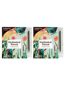 ScratchCreate Enchanted Forest Postcard Book 2PK