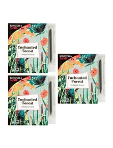 ScratchCreate Enchanted Forest Postcard Book 3PK