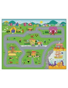 The Wiggles Megamat 61x47in w/ -Assorted Vehicle