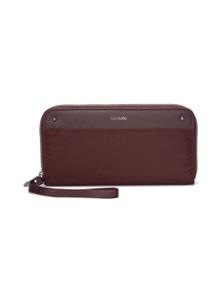 Pacsafe Women RFIDsafe Continental Wallet - Merlot