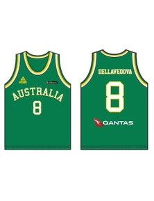 Peak Men's Australia Boomers Replica Basketball Singlet Top - Green/Gold