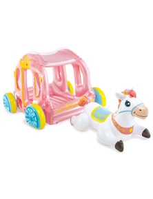 Intex 145Cm Princess Carriage Inflatable Ride-On Toy