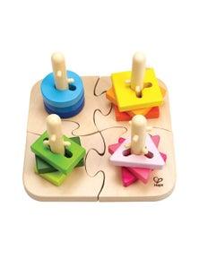 Hape Creative Peg Puzzle 16pc