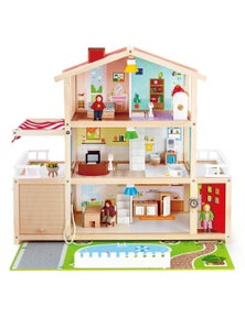 Hape Doll Family Mansion 29pc