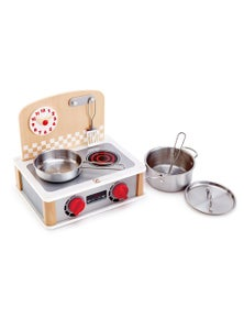 Hape 2 in 1 Kitchen and Grill Set 6pc