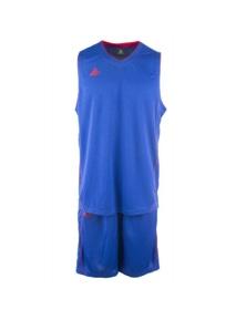 Peak Men's 2pcs Basketball Riped Set Singlet + Shorts Sports - Royal/Red