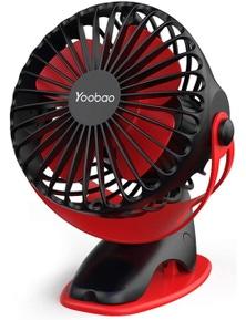 Yoobao Rechargeable Portable USB Low-noise/Noiseless Mini Clip On Fan