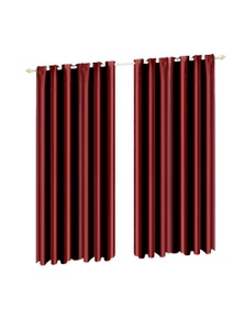 2 Pcs 240x230 cm Blockout Curtains with 3 Layers