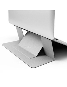 Moft Airflow Adhesive Foldable Laptop Stand - Silver