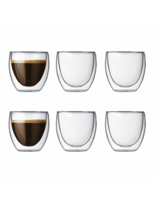 Bodum Pavina 6 Piece Double-Wall Glass Set - Small