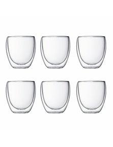 Bodum Pavina 6 Piece Double-Wall Glass Set - Sandard