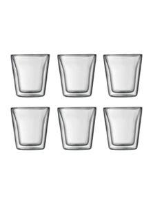 Bodum Canteen 6 Piece Double-Wall Glass Set - Standard