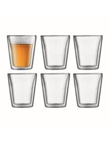 Bodum Canteen 6 Piece Double-Wall Glass Set - Medium