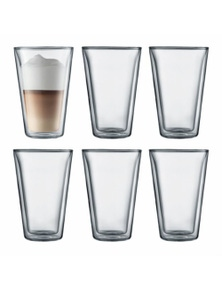 Bodum Canteen 6 Piece Double-Wall Glass Set - Large