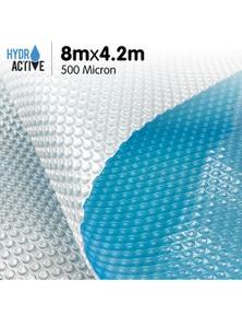 HydroActive 500 Micron Solar Swimming Pool Cover - 8m x 4.2m