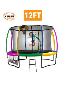 Kahuna Trampoline 12ft with Basketball Set
