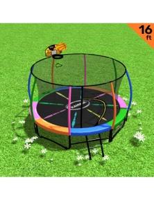 Kahuna Trampoline 16ft with Basketball Set