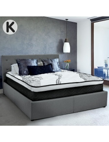 Laura Hill Fabric Gas Lift Bed Frame with Headboard