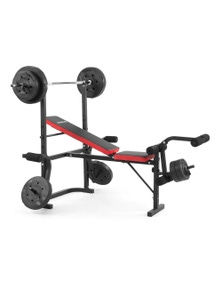 PowerTrain Home Gym Bench Press with 45kg Weights