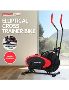 PowerTrain Elliptical Cross Trainer Exercise Bike Workout Equipment