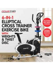 PowerTrain Elliptical Cross Trainer Exercise Bike Weight Disc