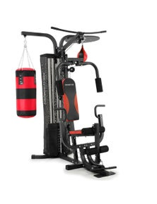 PowerTrain Home Gym Multi Station with Boxing Punching Bag Speed Ball PowerTrain
