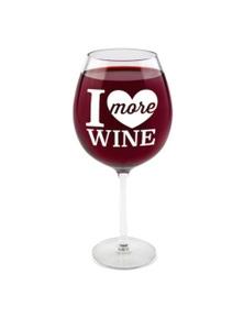BigMouth Gigantic Wine Glass - I Love More