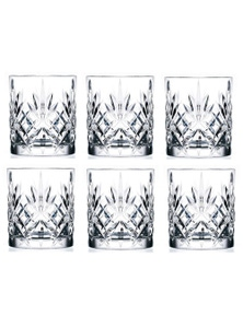 RCR Melodia Crystal Liquor Glasses 310ml - Set Of 6