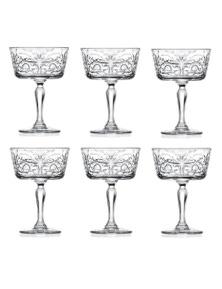 RCR Tattoo Champagne Dessert Goblet Set 6 - 268ml