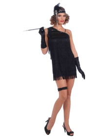 Rubies Black Diamond Dazzle Flapper Costume