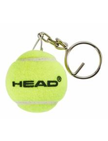HEAD Mini Tennis Ball Key Ring Clip On Key Chain Pendant Holder Loop Keychain
