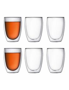 Bodum Pavina 6 Piece Double-Wall Glass Set - Medium