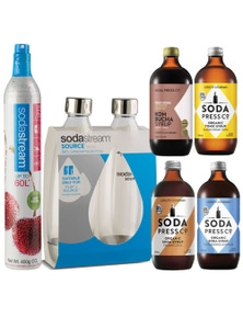 SodaStream Spare CO2 pack with four flavours