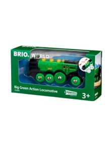 BRIO B/O - Big Green Action Locomotive