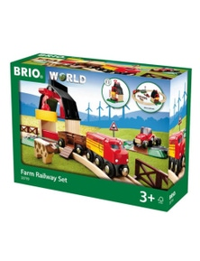 BRIO Set - Farm Railway Set, 20 pieces