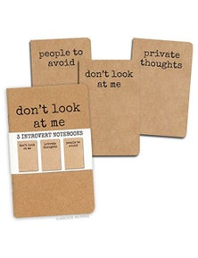 Archie McPhee Introvert Notebooks Set of 3