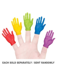 Archie McPhee Rainbow Hand Finger Puppets
