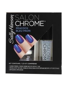 Sally Hansen Salon Chrome Nail Polish Kit - Peacock Bleu Paon