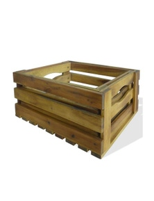 Apple Crates 2 Pieces Solid Acacia Wood