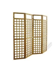 4 Panel Room Divider Trellis Solid Acacia Wood