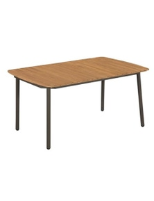 Outdoor Dining Table Solid Acacia Wood And Steel