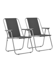 Folding Camping Chairs 2 Pieces