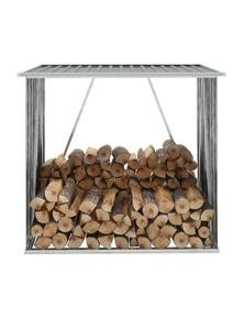 Garden Log Storage Shed Galvanised Steel