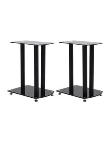 Aluminum Speaker Stands 2 Pieces Safety Glass