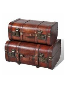 Wooden Treasure Chests 2 Pieces Vintage