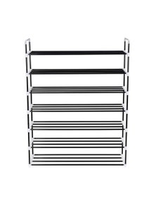 Shoe Rack With 7 Shelves Metal And Plastic