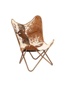 Butterfly Chair Genuine Goat Leather