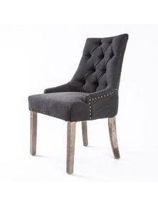 La Bella French Provincial Oak Leg Chair Black