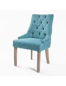 La Bella French Provincial Oak Leg Chair Blue