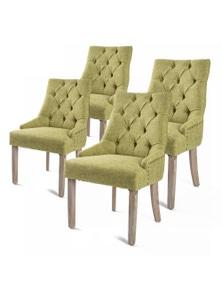 La Bella 4X French Provincial Oak Leg Chair